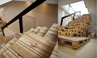 Comment construire un escalier avec des palettesmeuble en - Construire avec des palettes ...