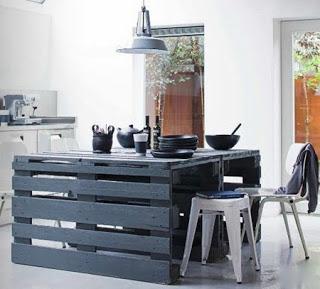 Facile à construire table avec des palettes en bois