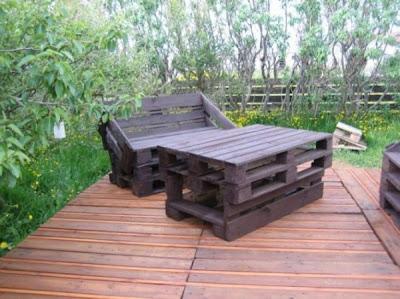 faire une terrasse en bois avec des palettes6meuble en palette meuble en palette. Black Bedroom Furniture Sets. Home Design Ideas