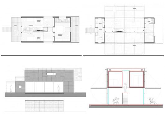 Maison Manifesto Construit avec des conteneurs maritimes et des palettes4