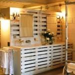 Meubles de palette pour la salle de bain