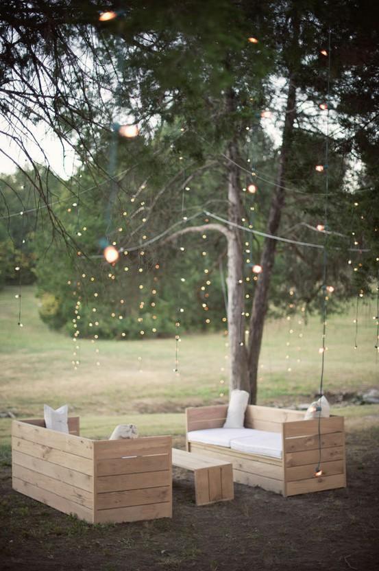 Schmücken Sie Ihren Garten mit Outdoor-Möbel Paletten