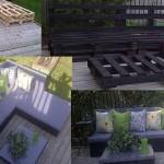 Sofa et chaise-longue en palettes