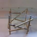 Table design avec palettes en bois