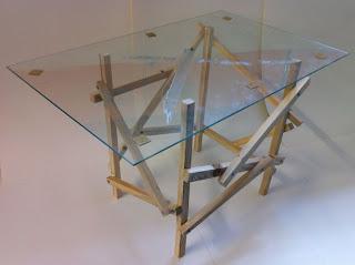 Table design avec palettes en bois2