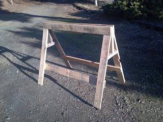 construire un tréteau avec des palettes en bois