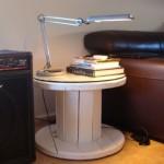 Construire une table avec une bobine en bois