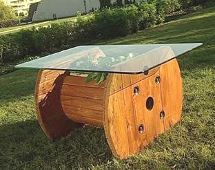 Construire une table avec une bobine en bois3