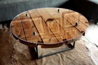 Construire une table avec une bobine en bois7