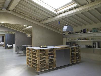 Arbeitsplatte Küche und Bad Möbel mit Paletten