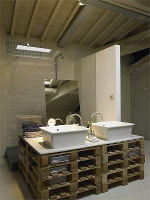 Arbeitsplatte Küche und Bad Möbel mit Paletten2