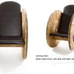 Construire un fauteuil avec un enrouleur de câble en bois