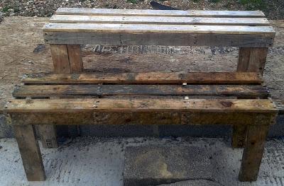 Bauen benchs mit Paletten6