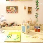 Bureau composé de palettes en bois re-recyclé