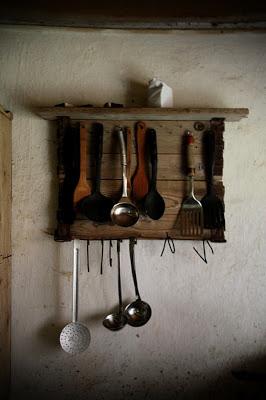 Cintre rustique pour vos ustensiles de cuisine