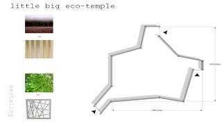 Conception architecturale dun temple faite avec des palettes5