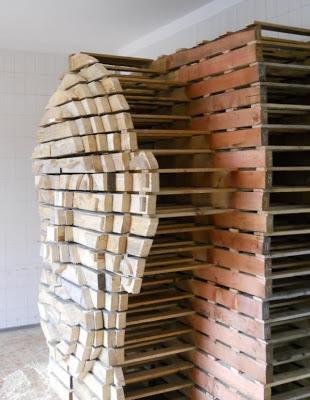 Conception de la tête humaine bricolage fait de palettes en bois2