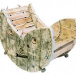 Construire une chaise berçante avec un enrouleur de câble en bois