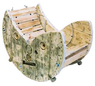 Construire une chaise ber ante avec un enrouleur de c ble for Chaise bercante en bois