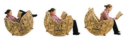 Construire une chaise berçante avec un enrouleur de câble en bois3