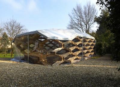 L'entreprise Avatar Archittetura designes un pavillon de palettes