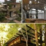 Les maisons faites de palettes en bois recyclées