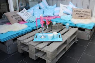 Lounge du meuble de palettes à mettre sur notre terrasse extérieure2