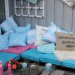 Lounge du meuble de palettes à mettre sur notre terrasse extérieure