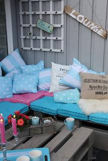 Lounge du meuble de palettes à mettre sur notre terrasse extérieure4