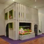 Maison de jeu pour vos enfants faites de palettes en bois 2