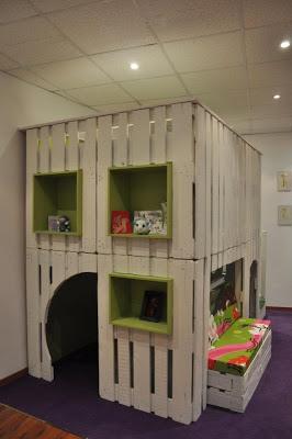 Maison de jeu pour vos enfants faites de palettes en bois 2-4