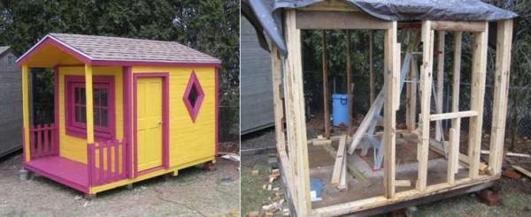 Maison de jeu pour vos enfants faites de palettes en bois2
