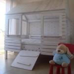 Palette lit – maison pour vos enfants