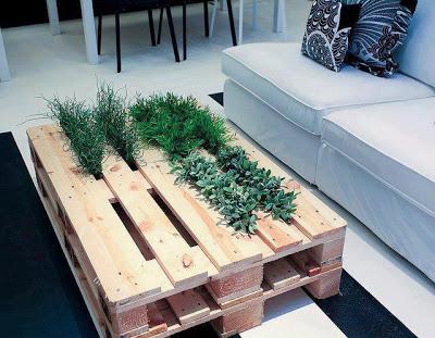 2 en 1 table et jardinière faite de palettes