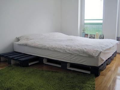 3D-Projekt von einem einfachen Bett Design und sein Ergebnis