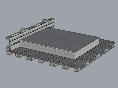 3D-Projekt von einem einfachen Bett Design und sein Ergebnis2