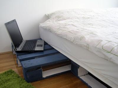 3D-Projekt von einem einfachen Bett Design und sein Ergebnis3