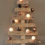 Arbre de Noël avec des palettes