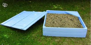 bac sable faite avec des palettes en boismeuble en palette meuble en palette. Black Bedroom Furniture Sets. Home Design Ideas