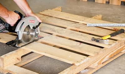 Balancelle faite avec des palettes en boismeuble en - Que faire avec des palettes bois ...