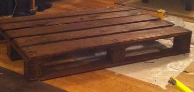 Construire un tableau avec une palette en bois et des tuyaux en acier inoxydable2