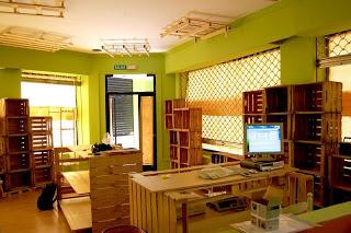 Eco Boutique toute meublé avec des meubles en palettes