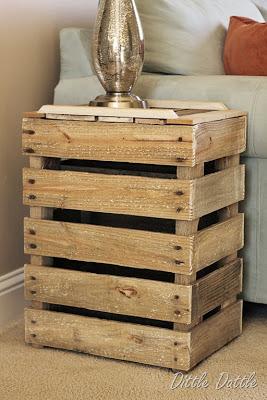 Construire Une Table De Chevet Rustique Avec Des Palettes