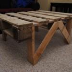 Construire un tableau avec une palette en bois et des tuyaux en acier inoxyda - Construire une table basse ...