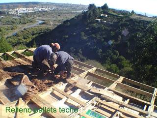 Maison faite avec des palettes au Chili