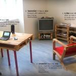 Mobilier de style IKEA faite avec des palettes