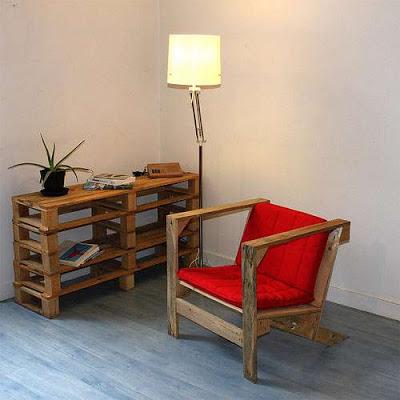 Mobilier de style IKEA faite avec des palettes4