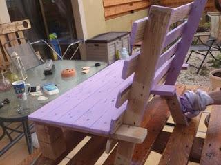 petite chaise en palette