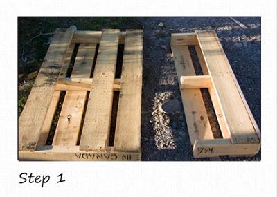 Petites étagères rustiques faites de palettes en bois recyclées3