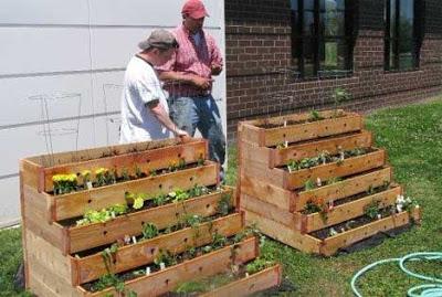 Planteurs d'escalier pour votre décor de jardin